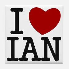 I Heart Ian Tile Coaster