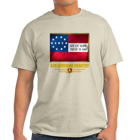 6th Louisiana Infantry (flag 10) Light T-Shirt