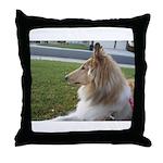 Collie Profile Throw Pillow
