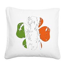 irish Square Canvas Pillow
