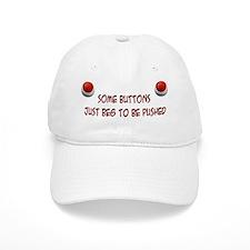 begging button Baseball Cap