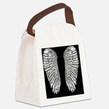 Angel Wings black Canvas Lunch Bag
