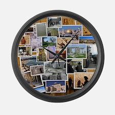 Sitios Turisticos Large Wall Clock
