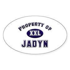 Property of jadyn Oval Decal