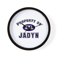 Property of jadyn Wall Clock