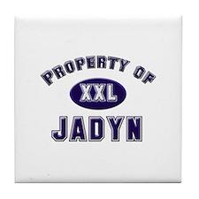 Property of jadyn Tile Coaster