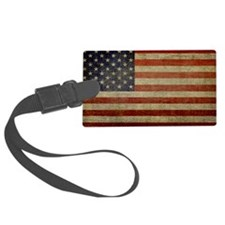 license-plate_antique-flag Luggage Tag