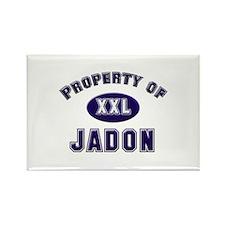 Property of jadon Rectangle Magnet