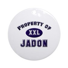 Property of jadon Ornament (Round)