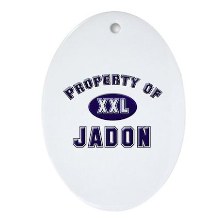 Property of jadon Oval Ornament