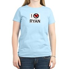 I Hate RYAN Women's Pink T-Shirt