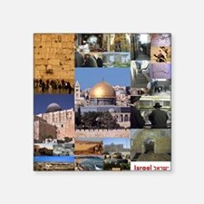 "Eretz Israel Square Sticker 3"" x 3"""