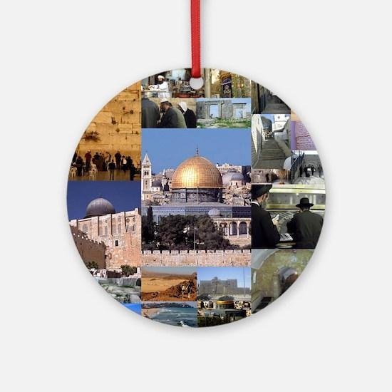 Eretz Israel Round Ornament
