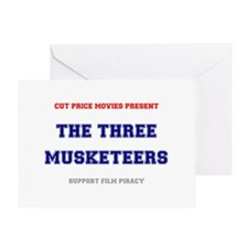 CUT PRICE MOVIES - THE THREE MUSKETE Greeting Card
