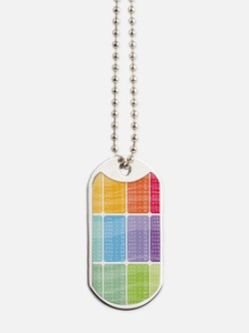 times table multiplication rainbow vivid Dog Tags
