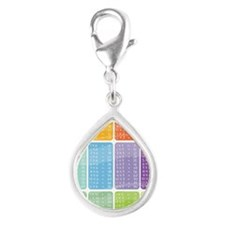 times table multiplication  Silver Teardrop Charm