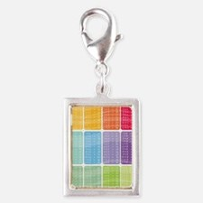 times table multiplication r Silver Portrait Charm