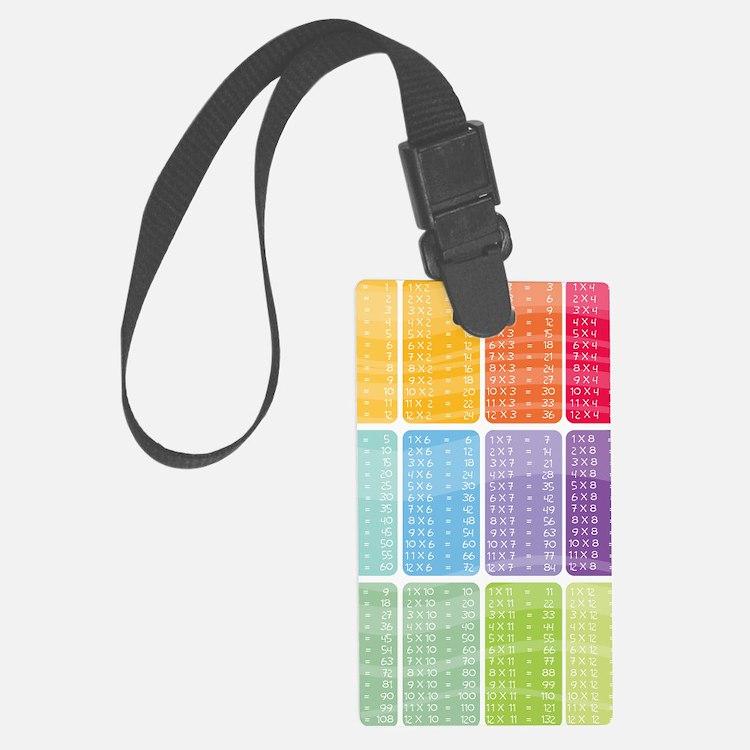 times table multiplication rainb Luggage Tag