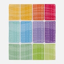 times table multiplication rainbow v Throw Blanket
