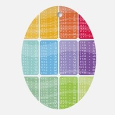 times table multiplication rainbow v Oval Ornament