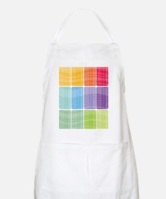 times table multiplication rainbow vivid Apron