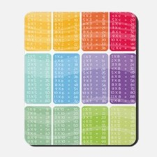 times table multiplication rainbow vivid Mousepad