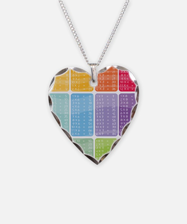 times table multiplication ra Necklace