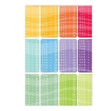 times table multiplicatio Postcards (Package of 8)
