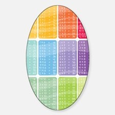 times table multiplication rainbow  Sticker (Oval)