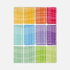 times table multiplication rainbow vivi Twin Duvet