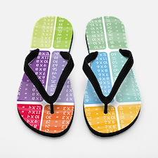times table multiplication rainbow vivi Flip Flops