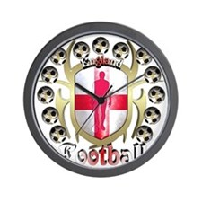 England_Shirt_TribalShield Wall Clock