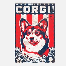 corgi_usa_white Postcards (Package of 8)