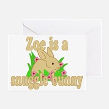 zoe-g-snuggle-bunny Greeting Card