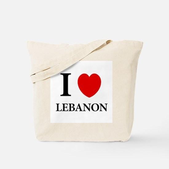 Small Heart Lebanon Tote Bag