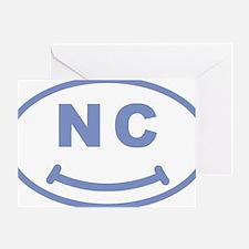 nc north carolina smile vector carol Greeting Card