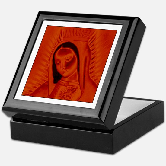 Virgen de Guadalupe - Red Keepsake Box