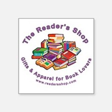 "readers shop logo_10_blk Square Sticker 3"" x 3"""