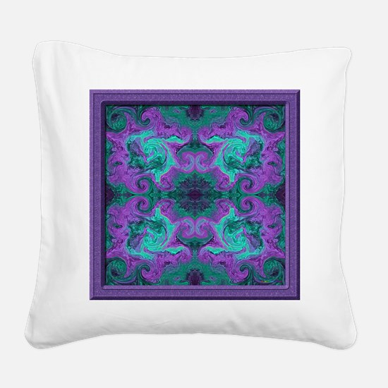 20020816-01Spiro-v003-sig-v01 Square Canvas Pillow