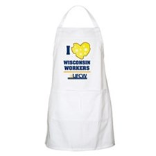 I heart wisconsin workers Apron