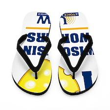 I heart wisconsin workers Flip Flops