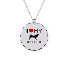 I Love My Akita Necklace