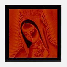 Virgen de Guadalupe - Red Tile Coaster