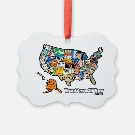 TouchemAllTee-F USMapPlates Ornament