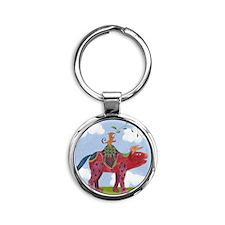 wachitorito-print_Isabella Round Keychain