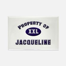 Property of jacqueline Rectangle Magnet
