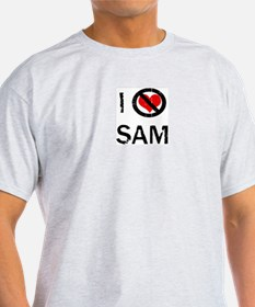 I Hate SAM Ash Grey T-Shirt