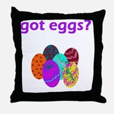 Got Eggs Throw Pillow