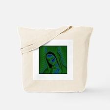 Virgen de Guadalupe - Green Tote Bag