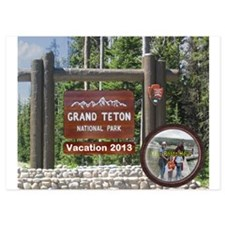 DIY Photo Souvenir From Grand Tetons Invitations